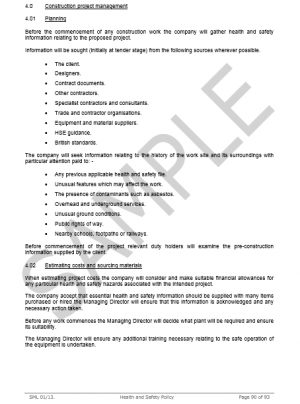 Health & Safety Policy for General Building Contractor 12