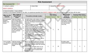 Risk Assessment & Method Statement for Cleaning of Void Property 4