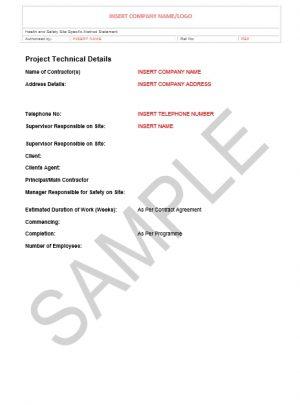 Risk Assessment & Method Statement for Fencing 1
