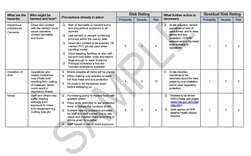 Risk Assessment  Method Statement For Fencing  Seguro