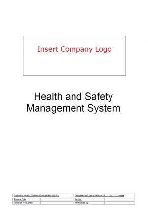 HSG65 Health & Safety Management System 2