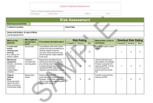 Risk assessment & method statement for landscaping sample 1