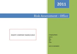 Office Risk Assessment 1