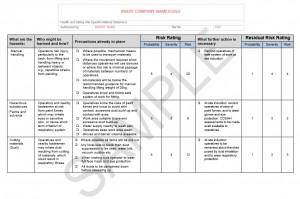 Risk Assessment & Method Statement for Retail Unit Fit Out 1