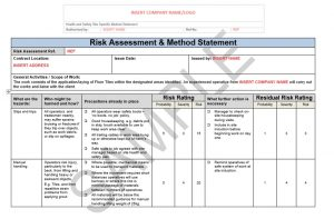 Risk Assessment & Method Statement for Floor Tiling 1