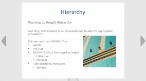 Working at height hierachy