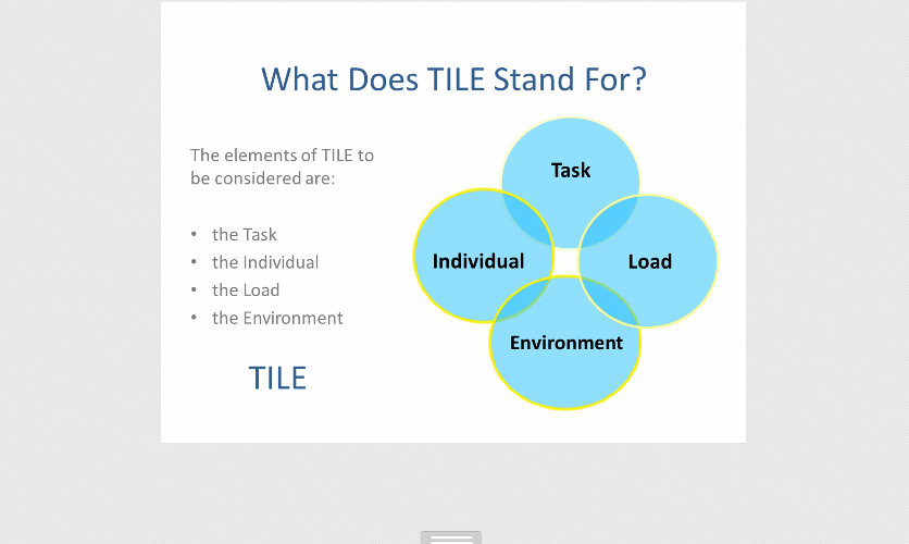 toolbox manual handling talk