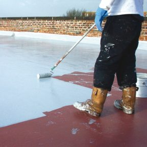 application-of-liquid-coatings-for-flat-roof