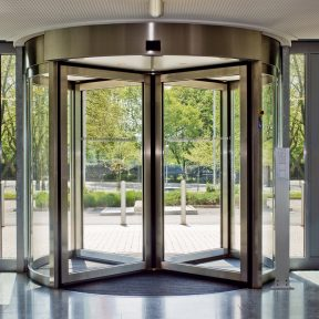 Installation of revolving doors